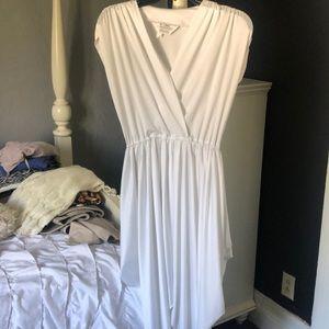 White fresh dress